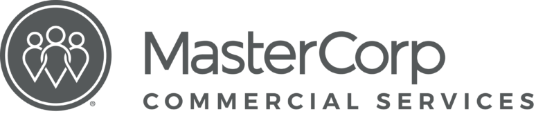 MasterCorp Logo - the words MasterCorp in black and Commercial Services in grey.