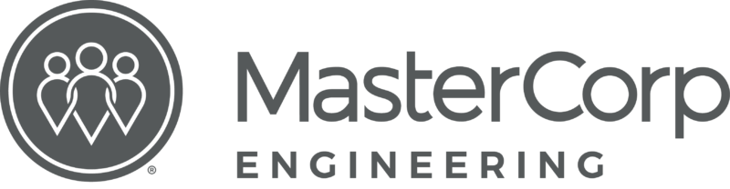 MasterCorp Logo - the words MasterCorp in black and Engineering in grey.