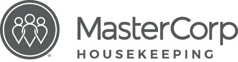 MasterCorp Logo - the words MasterCorp in black and Housekeeping in grey.