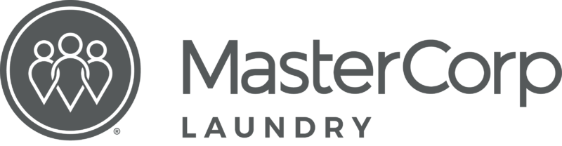 MasterCorp Logo - the words MasterCorp in black and Laundry in grey.