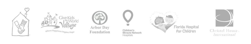 Light gray logo collage of programs. The Ronald McDonald House Charities and more. | MasterCorp